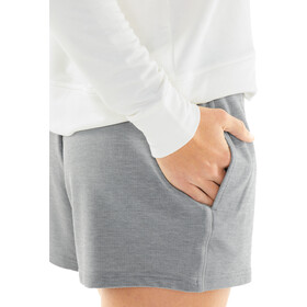 Icebreaker Momentum Shorts Dames, fossil/snow heather